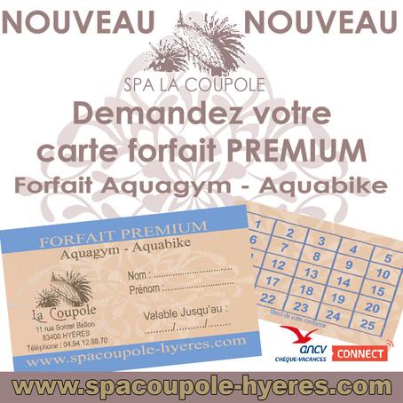 Nouveau Forfait Premium Aquagym et Aquabike