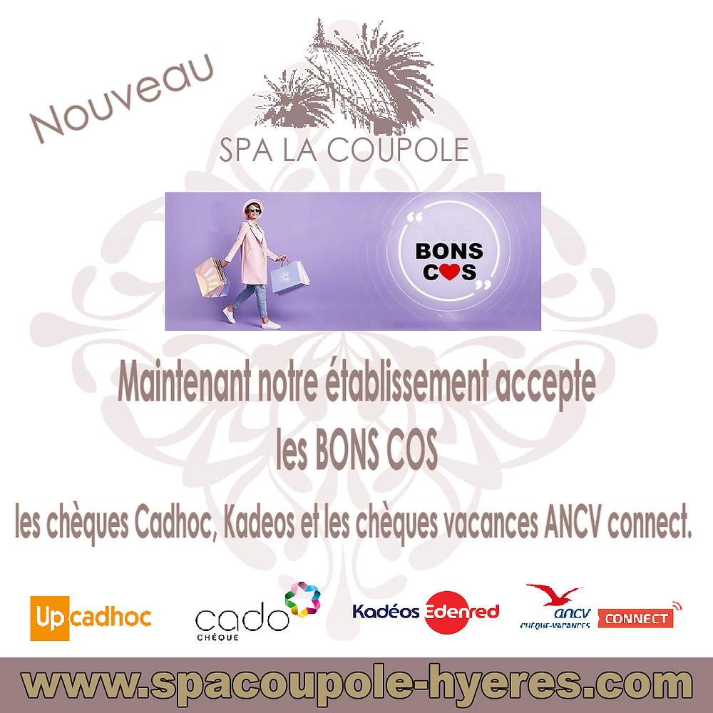 Le Spa La Coupole accepte les bons COS