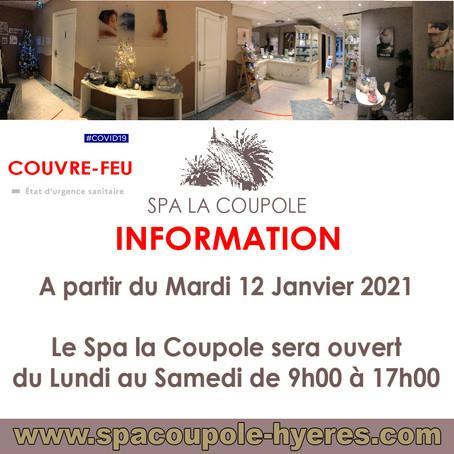 couvre-feu Spa La Coupole