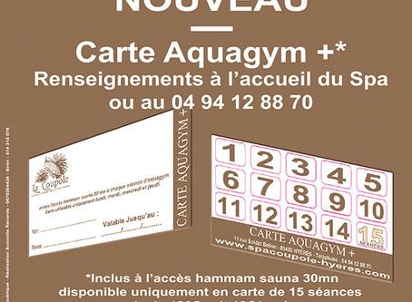 Nouveau Carte Aquagym +