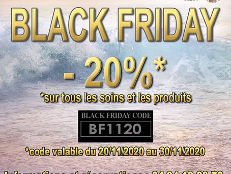 BLACK FRIDAY & Click&Collect au Spa La Coupole