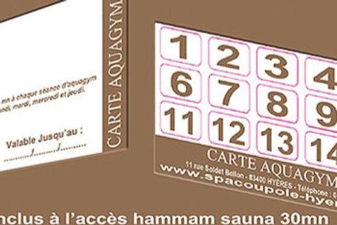 Carte Aquagym+15 Séances