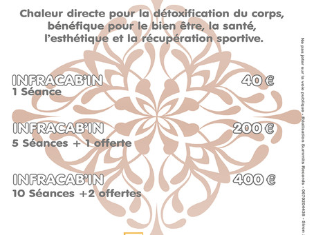 Promo Soin Infracab'in et Body Palp au Spa La Coupole