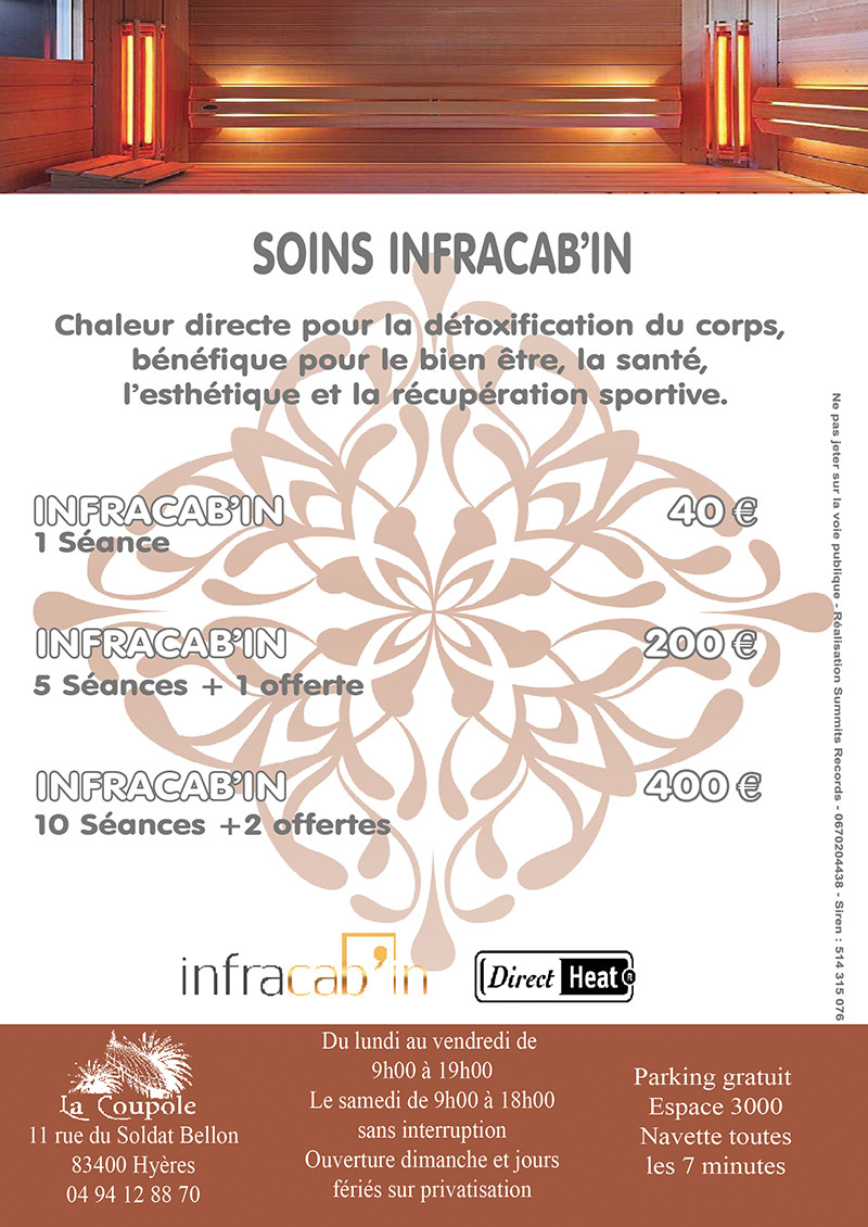Soin Infracab'in Spa La Coupole