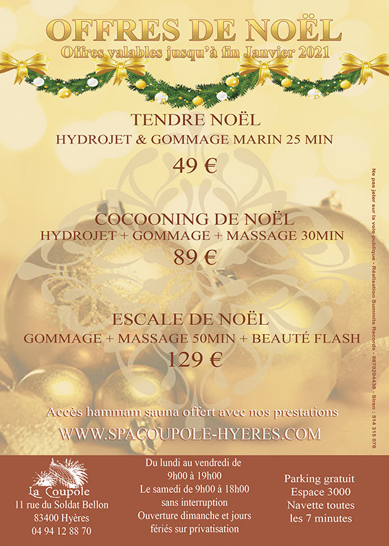 Spa La Coupole Flyer Tendre Noel  2020 R
