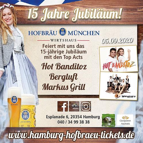 15 Jahre Hofbräu Hamburg inkl. Speisen & Getränke