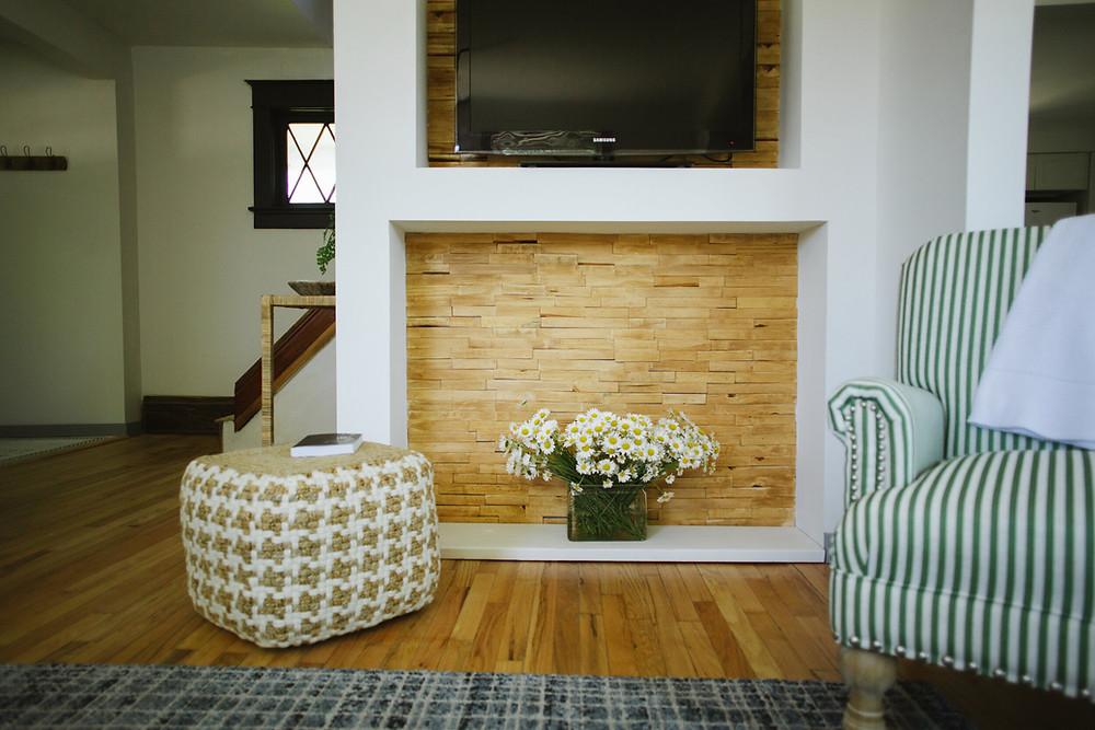 DIY Wood Shim Accent Wall