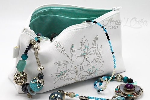 "Trousse Maquillage ""White Flower"""