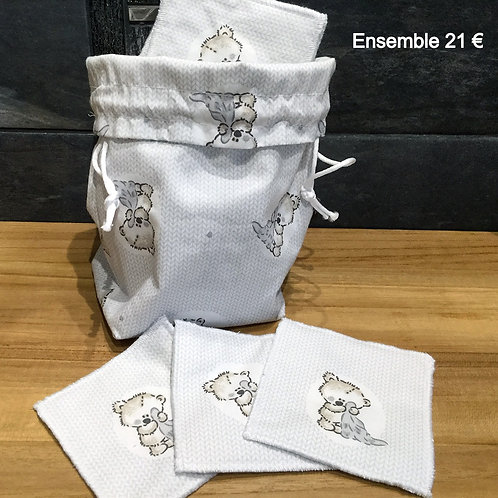 """7 Lingettes Démaquillantes """"TINOURS"""""""