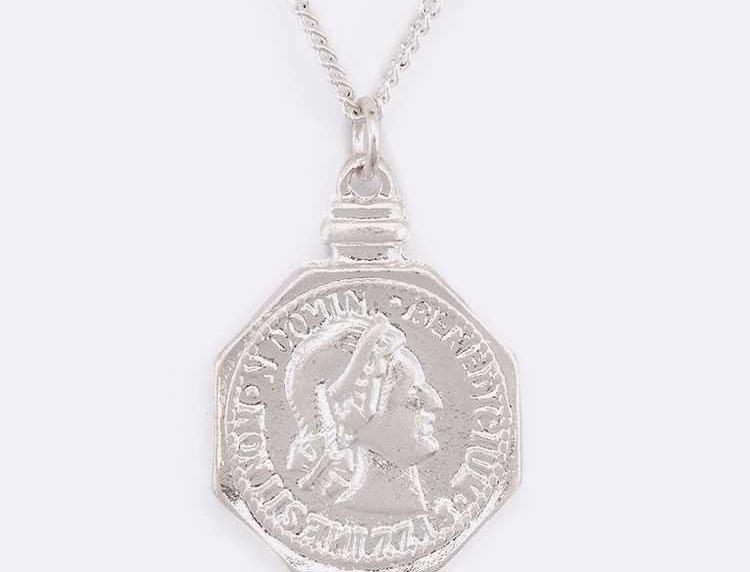 Sliver Coin Necklace