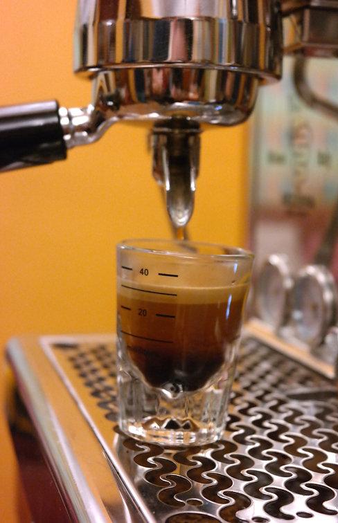 Preparación café esspreso