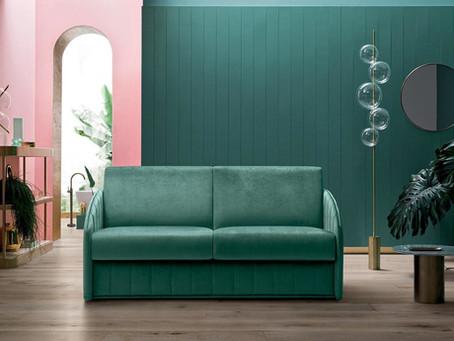 Carter, il divano letto dalle forme sinuose