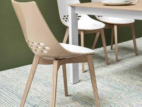 JAM Wood | sedia in legno massello con seduta bicolore