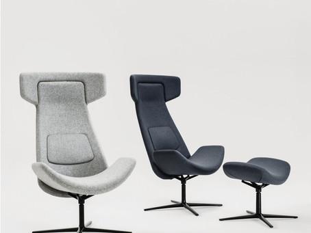 Nordic, la poltrona lounge dal design curvo