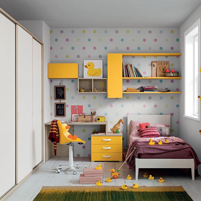 Un arredo polifunzionale dallo stile sorprendente. Un ambiente a misura di bambino dove crescere con gioia.