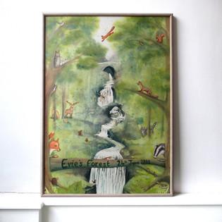 Forest scene wall art