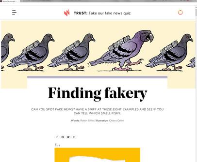 Fake News article mockup