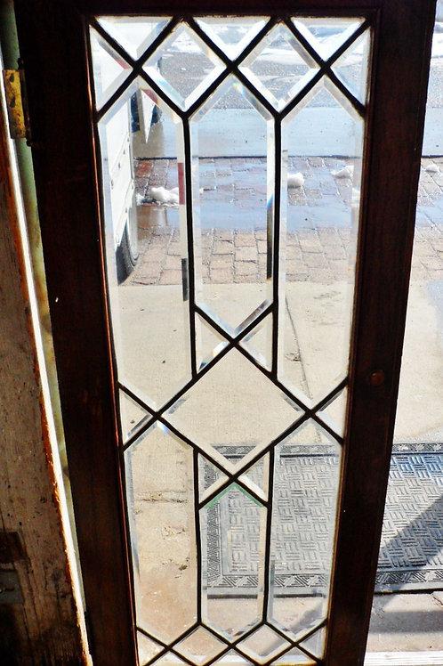Set of 4 Beveled Glass Cabinet Doors