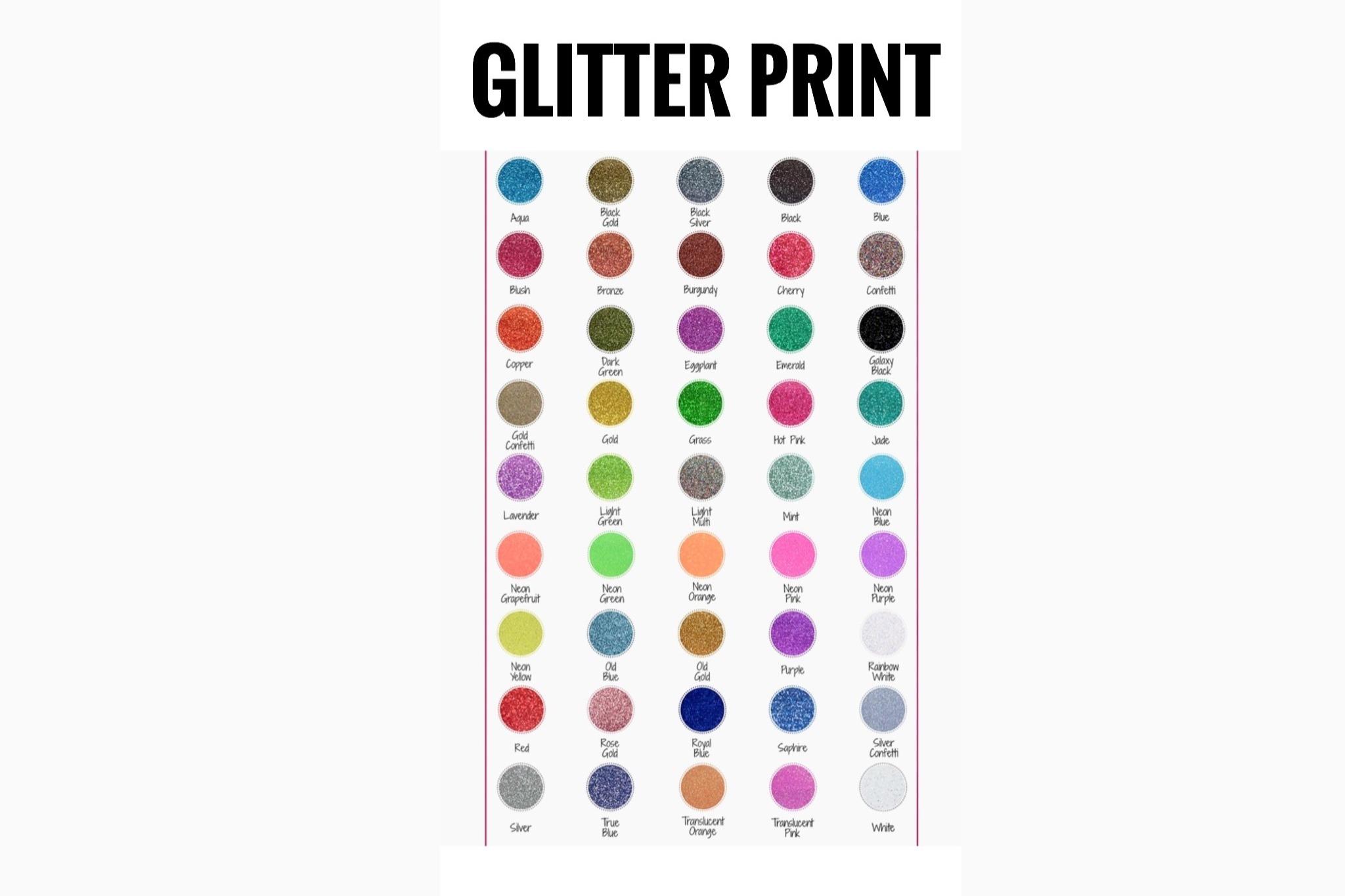 GLITTER PRINT CHART