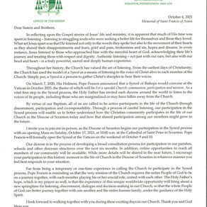 Bishop Bambera Letter to the Faithful