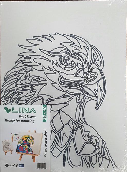Платно с шаблон орел 30х40