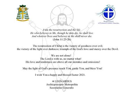 Пасхальное поздравление митрополита Леонардо Бега.