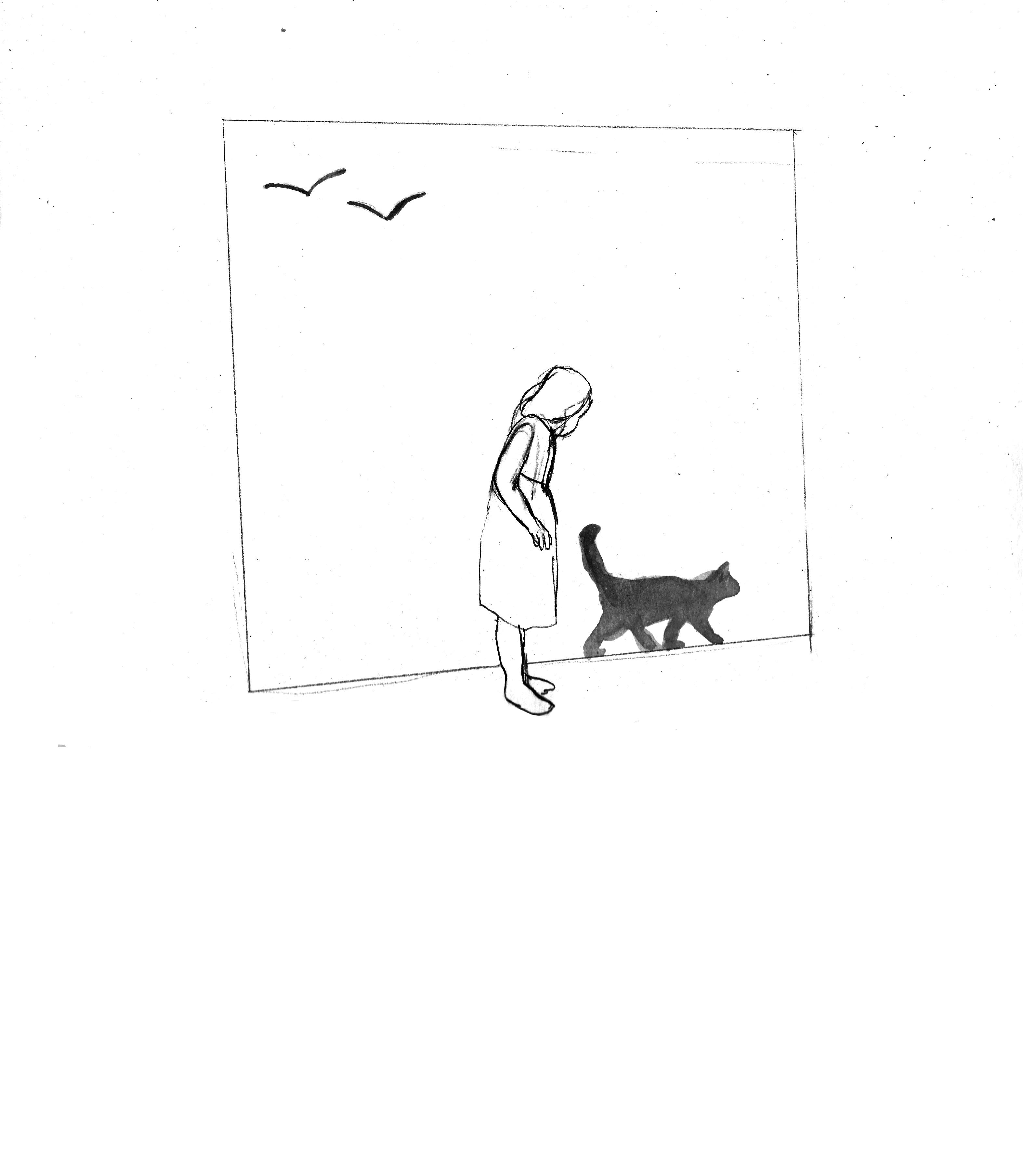 Marianne, le chat, l'oiseau