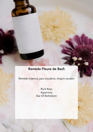 Fleur de Bach - Remède Urgence, peur soudaine, chagrin soudain