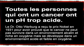 Le pH du corps peut guérir le cancer, ou être la cause de celui-ci.