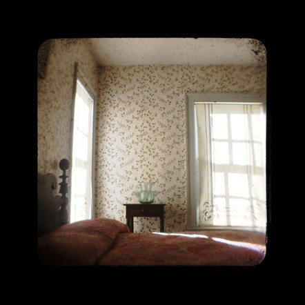 Pink Bed at Eastman's Childhood Home