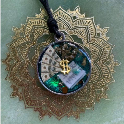 Powerful Medieval Money & Success Talisman With Resin Back