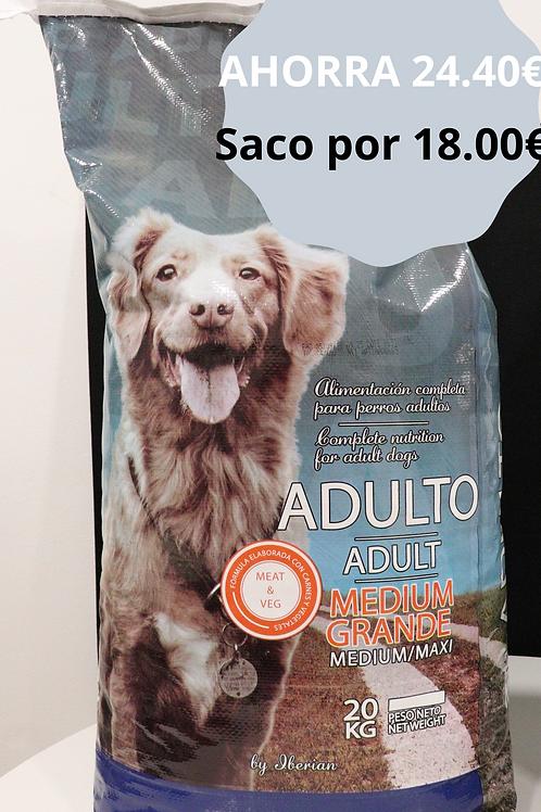 6 sacos Pienso Perros Adulto Iberian