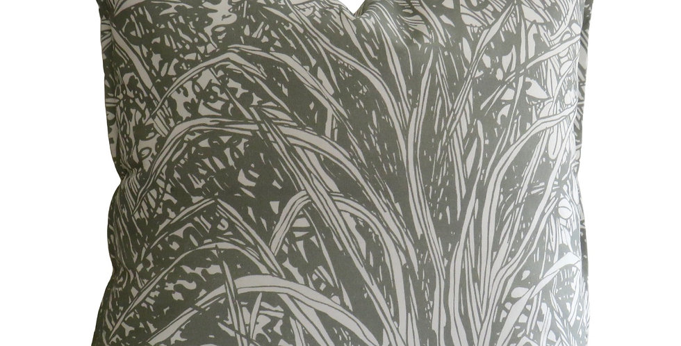 Jungle Silver Ash Cotton - 55 x 55 Cushion