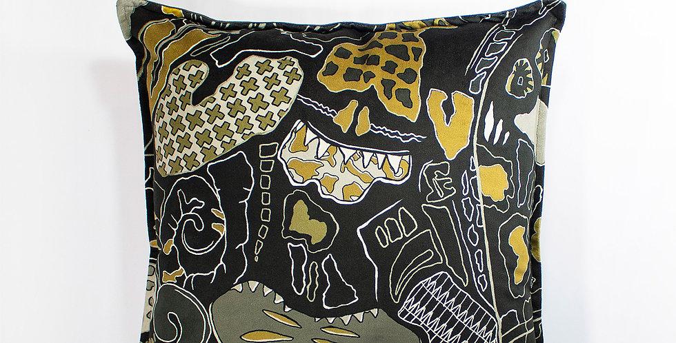 Zhi Zulu Camouflage Velvet 50 x 50 Cushion