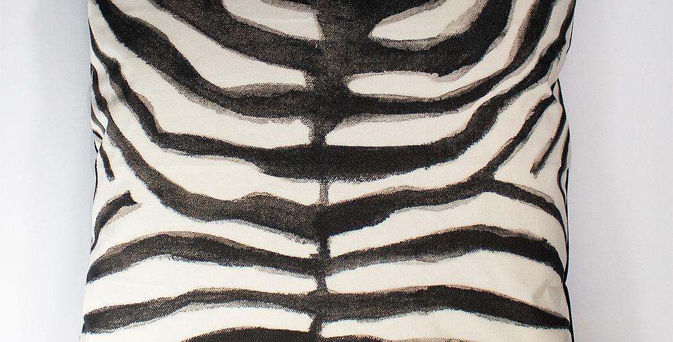 Aureum Zebra Velvet 60 x 60 Cushion