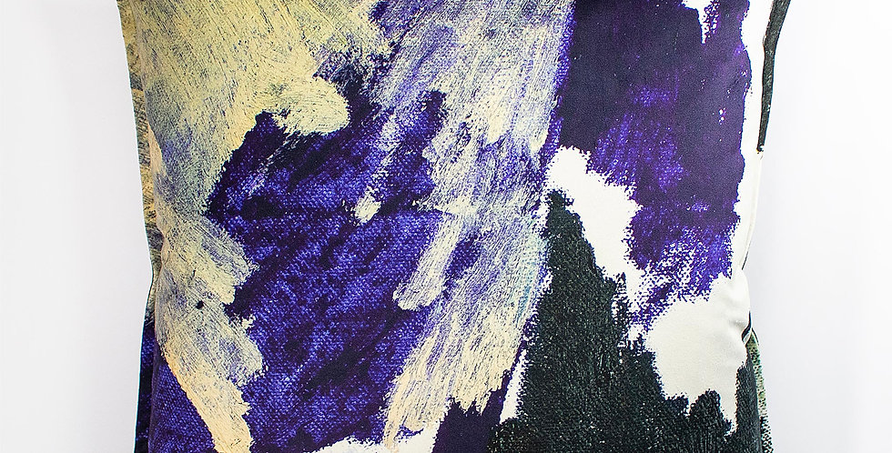 Lucy Jane Turpin Stormy Sky Velvet 60x60 Cushion