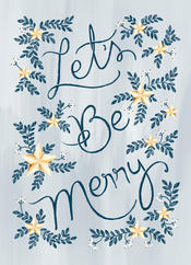 greetings card with bleed lets be merry.