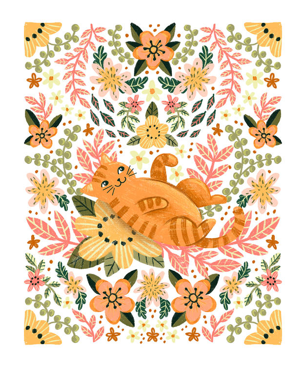 Orange cat 10x12 gift bag_web.jpg