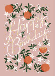 greetings card with bleed happy birthday