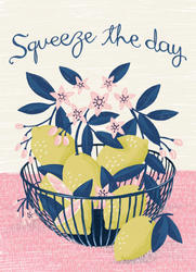 greetings card with bleed squeeze the da