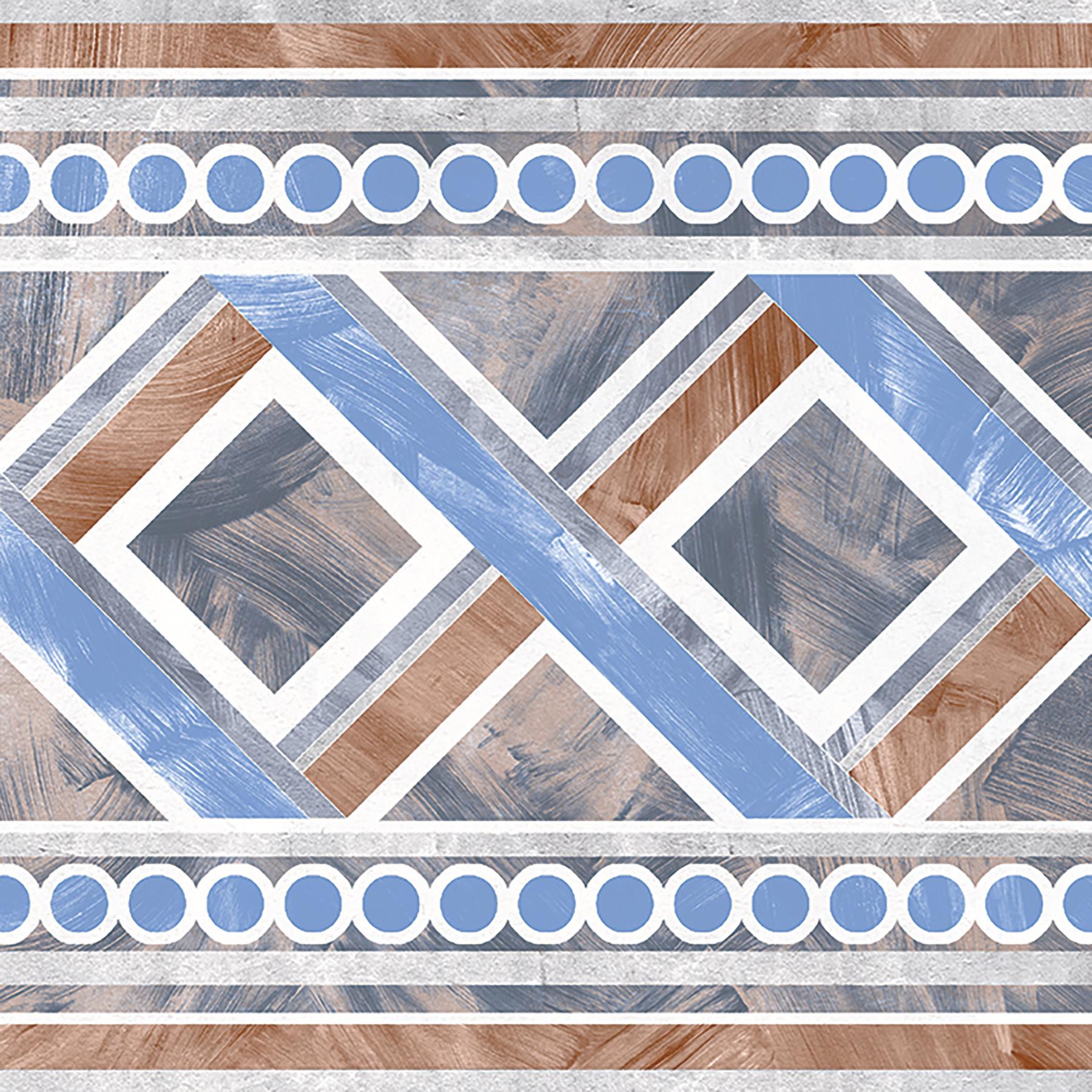TREVISO 20x20 Blue Border
