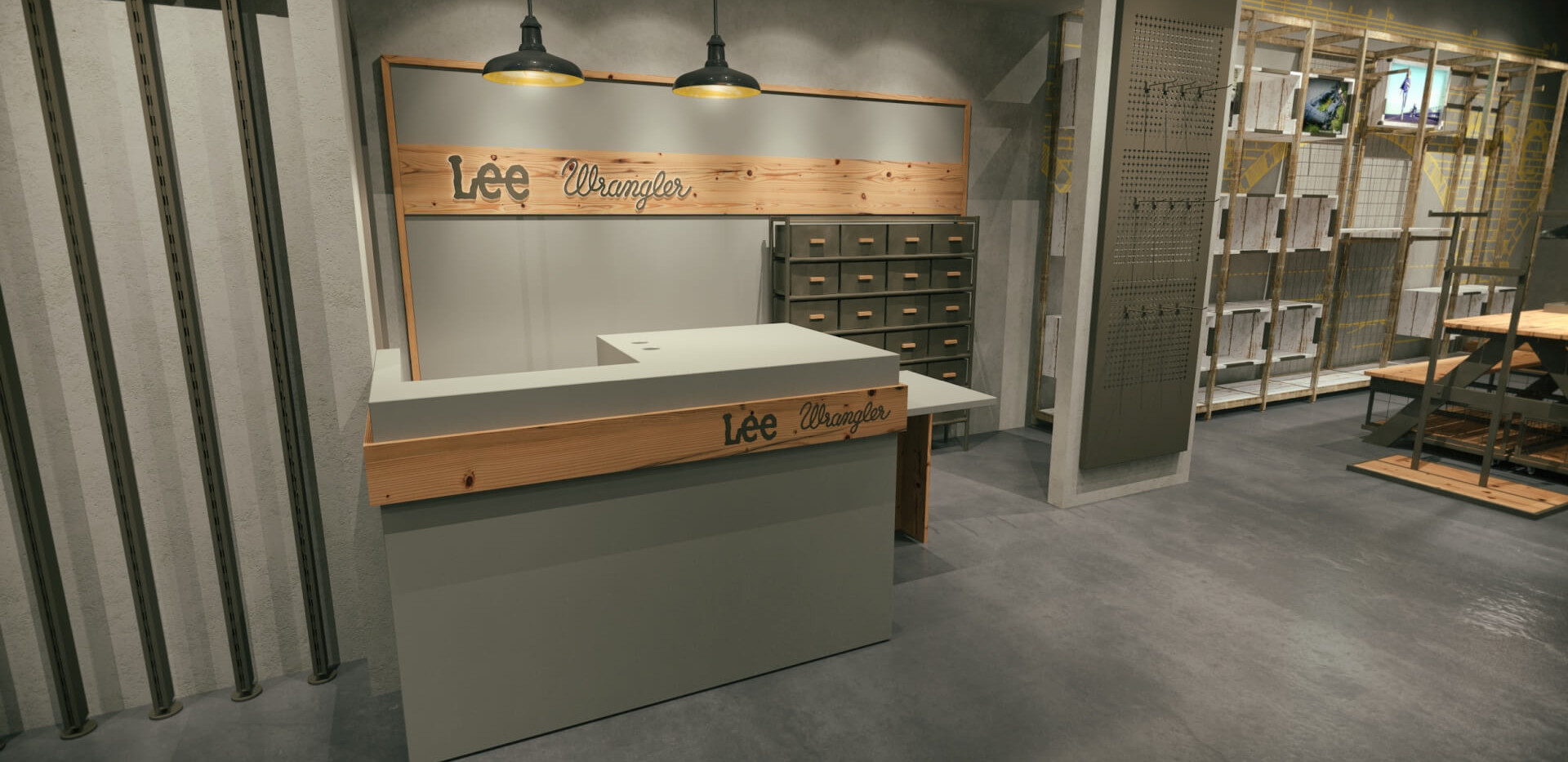 Lee Wrangler - Denim Store Shop Design-1