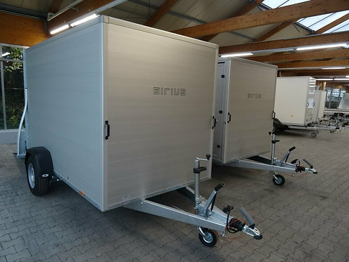 Kofferanhänger ALU Sirius G305 Rampe/Tür Kombi 3 Meter