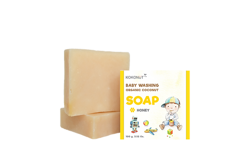 KOKONüT Baby Washing Organic Coconut Soap - Honey