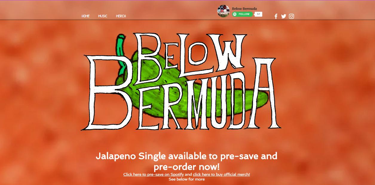 Below Bermuda Main Page