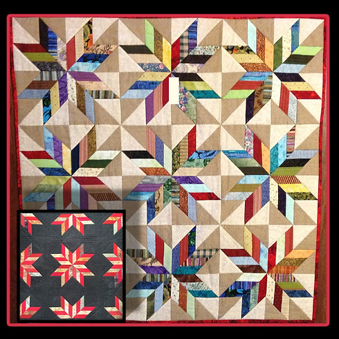 Scrappy Chevron Star...Or Not - Narragansett Bay Quilters (1)