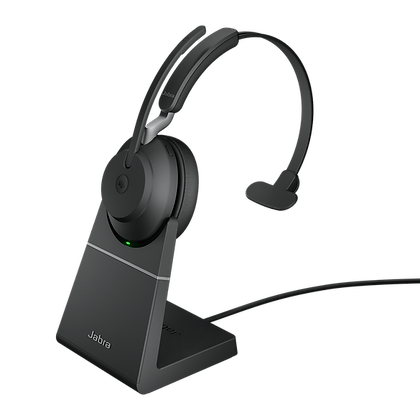 Jabra Evolve2 65 Mono With Charging Stand Wireless Headset