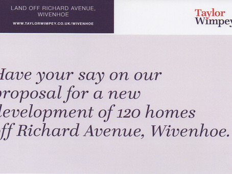 Taylor Wimpey 120 home development in Wivenhoe
