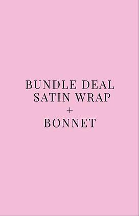 Bundle Deal: Satin Wrap + Bonnet