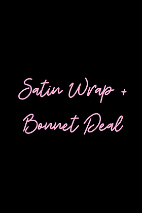 Bundle Deal: Satin Wrap + Bonnet